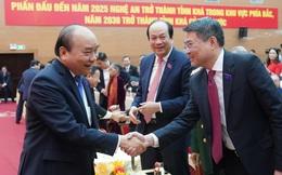 Chùm ảnh: Thủ tướng Nguyễn Xuân Phúc dự Đại hội Đảng bộ tỉnh Nghệ An