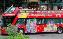 Hình ảnh xe buýt 2 tầng trong ngày đầu lăn bánh trở lại ở Hà Nội