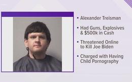 """Thanh niên 19 tuổi chất đầy súng, thuốc nổ lên xe để """"ám sát ông Biden"""""""