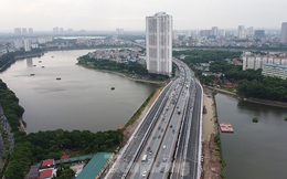 Thông xe cầu vượt 'trăm tỷ' qua hồ Linh Đàm