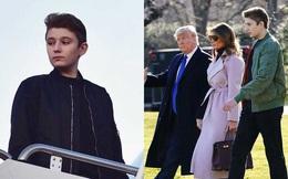 """Thói quen thường xuyên của """"Hoàng tử Nhà Trắng"""" Barron Trump khi đi cùng bố mẹ suốt 4 năm qua mà không mấy ai để ý tới"""