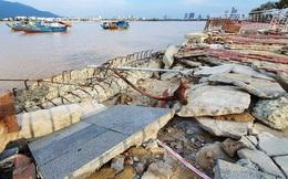 Đà Nẵng: Vỉa hè và kè đường Như Nguyệt bị hư hại nặng sau bão Molave