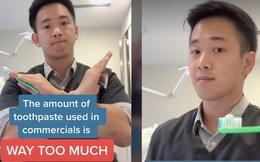 Dùng bao nhiêu kem đánh răng thì đủ? Một nha sĩ đã đăng tải một video giúp giải đáp câu hỏi này