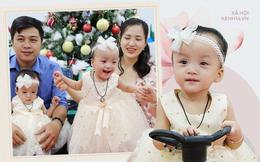 ẢNH, CLIP: Chị em Trúc Nhi - Diệu Nhi cười tít mắt, nắm tay bố mẹ đến BV đón giáng sinh cùng các bạn