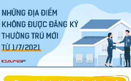 Infographic: Những địa điểm không được đăng ký thường trú mới từ 1/7/2021