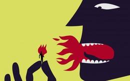 """Cổ nhân có câu """"Uốn lưỡi bảy lần trước khi nói"""": Lời nói như con dao hai lưỡi, có thể nâng bạn lên nhưng đồng thời cũng có thể dìm xuống tận cùng"""