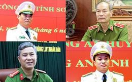 Chân dung bốn vị tướng, tá công an được phong danh hiệu Anh hùng