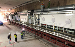 Xuống lòng đất sâu mục sở thị Rô-bốt 'khủng' đào hầm metro Nhổn - ga Hà Nội