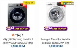 Máy giặt lồng ngang Electrolux, Samsung, LG... ngày càng rẻ, nhiều mẫu giảm sốc 50% về còn 5 triệu đồng