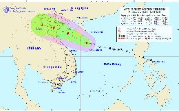 Áp thấp nhiệt đới có khả năng mạnh thành bão, hướng vào đất liền Việt Nam