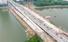 Hình ảnh cầu vượt thấp hồ Linh Đàm sắp thông xe