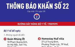 Khẩn tìm người đến 5 địa điểm và 2 chuyến bay Đà Nẵng đến TPHCM, Buôn Ma Thuột