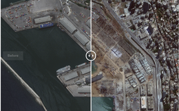 Ảnh vệ tinh cho thấy cảng Beirut tan hoang như thế nào sau vụ nổ kinh hoàng