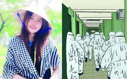 """Lời cảm ơn những người hùng """"áo trắng"""" được khắc họa trong bộ tranh tri ân vô cùng xúc động của nữ sinh Đà Nẵng"""