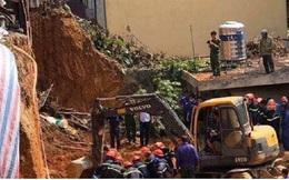 Sập công trình ở Việt Trì 4 người bị vùi lấp
