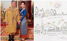 Bức tranh vua Thái Lan tặng Hoàng quý phi vừa được phục vị khiến dân mạng xuýt xoa vì quá đáng yêu, thể hiện tình cảm hết mức dành cho vợ