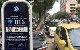 Trông xe theo iParking bị gỡ bỏ trên phố Hà Nội