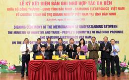 Samsung ký kết 3 bên với Bộ Công Thương và tỉnh Bắc Ninh về chương trình hỗ trợ doanh nghiệp Việt Nam tham gia chuỗi cung ứng
