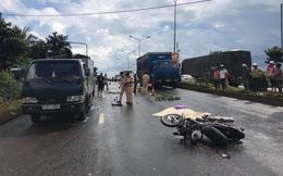 Mưa lớn, tông xe tải đậu bên đường, người đàn ông tử vong tại chỗ