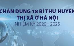Chân dung 18 bí thư huyện, thị xã ở Hà Nội