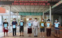Quảng Nam cho xuất viện thêm 13 bệnh nhân mắc COVID-19 đã khỏi bệnh