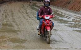 Thi công Quốc lộ 40B ở Quảng Nam ì ạch, đường nham nhở, dân kêu trời