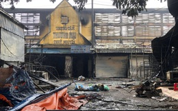 Tiểu thương khóc nghẹn khi Trung tâm thương mại Thủy Nguyên chìm trong 'biển' lửa