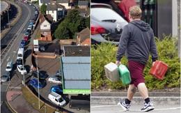 Cảnh thiếu xăng ở Anh: Xe xếp hàng cả dặm chờ đổ xăng, lượng người mua can tích trữ tăng 1.600%