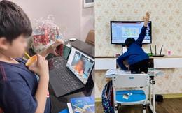Chùm ảnh cười ra nước mắt khi học sinh học online: Trèo hẳn lên bàn để giơ tay mà cô giáo không gọi, đang cắm dở nồi cơm thì thầy điểm danh