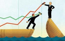 Cổ phiếu bất động sản, ngân hàng dậy sóng, VnIndex tăng vọt 8 điểm cùng thanh khoản cao