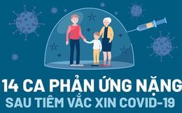 14 ca phản ứng nặng sau tiêm vắc xin COVID-19