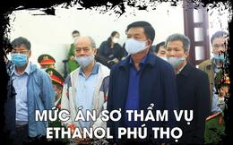 [INFOGRAPHIC] Án phạt của ông Đinh La Thăng, Trịnh Xuân Thanh trong vụ Ethanol Phú Thọ