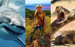 """Tỷ lệ bị rắn độc, cá mập và gấu dữ tấn công là 1/893,35 triệu tỷ, vậy mà chàng trai này lại trúng cả """"combo"""" mà vẫn sống """"nhăn răng""""!"""