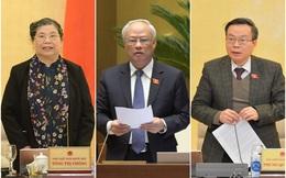 Trình miễn nhiệm các Phó Chủ tịch Quốc hội Tòng Thị Phóng, Uông Chu Lưu và Phùng Quốc Hiển