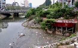 Cận cảnh những dòng sông 'đen' chảy giữa nội thành Hà Nội
