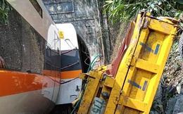 Hình ảnh toa tàu, xe tải nát vụn trong vụ tai nạn thảm khốc làm ít nhất 48 người chết ở Đài Loan