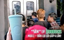"""Choáng: Người Sài Gòn 6h sáng xếp hàng dài trước cổng Starbucks để """"săn"""" chiếc ly màu xanh với giá 500k, sau 4 tiếng bán lại đã TĂNG GIÁ GẤP 4 LẦN!"""