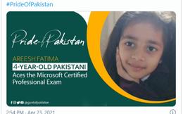 Mới 4 tuổi, cô bé người Pakistan đã phá kỷ lục thế giới khi giành được chứng nhận chuyên gia của Microsoft