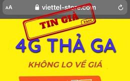 Giả mạo tên và hình ảnh của Viettel để rao bán SIM 4G
