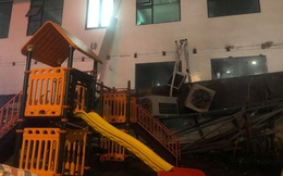 Cả giàn điều hòa ở chung cư Hà Nội bất ngờ đổ sập, rơi xuống sân chơi cho trẻ em