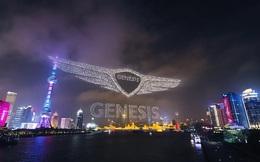 """Genesis """"chào Trung Quốc"""" theo cách không thể hoành tráng hơn: Dùng 3.281 drone """"xếp hình"""" trên bầu trời Thượng Hải"""