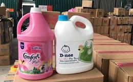 """Bắt hàng nghìn can nước giặt giả mạo nhãn hiệu D-nee, Comfort, sản xuất bằng """"công nghệ xô chậu"""""""