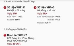 Bộ Y tế khẩn tìm hành khách 2 chuyến bay Hà Nội - Đà Nẵng và người đến quán bar Sunny