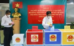 Trưởng Ban Kinh tế Trung ương Trần Tuấn Anh bỏ phiếu bầu cử tại Tp. Thủ Đức