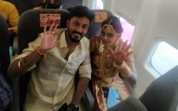 """Thuê nguyên chuyến bay để tổ chức đám cưới trên trời bất chấp đại dịch, cặp đôi Ấn Độ nhận mưa """"gạch đá"""""""