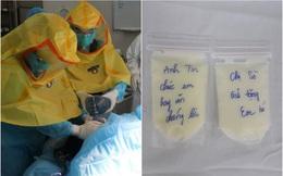 Mẹ mắc Covid-19 hôn mê sâu, bé sơ sinh được điều dưỡng BV Nhiệt đới TW vắt sữa gửi tặng