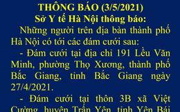 Hà Nội thông báo khẩn tìm người dự đám cưới tại Bắc Giang và Yên Bái