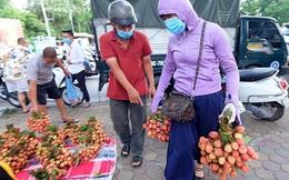 Vải thiều Bắc Giang được bán với giá 20.000 đồng/kg ở Thủ đô