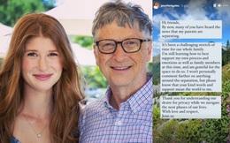 """Con gái cả của Bill Gates lần đầu lên tiếng về vụ ly hôn chấn động của cha mẹ: """"Đây là khoảng thời gian thách thức đối với cả gia đình"""""""