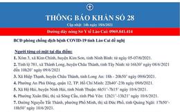 Khẩn tìm người đến 18 địa điểm liên quan ca mắc COVID-19 tại thành phố Lào Cai